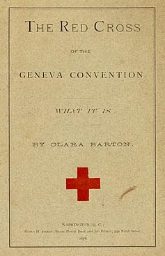An illustration for the story Clara Barton's Public Address, 1881 by the author Clara Barton
