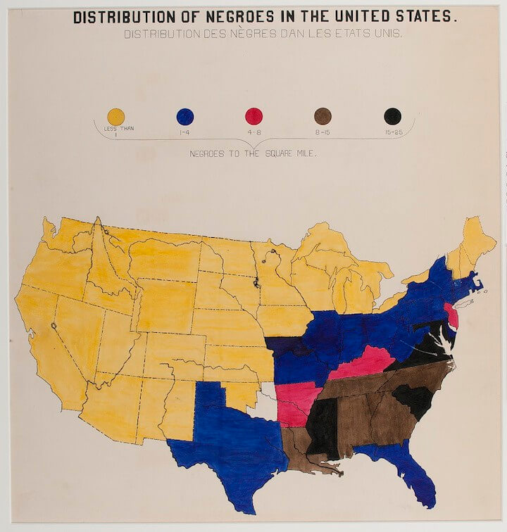 Distribution of Negros in the United States, 1900
