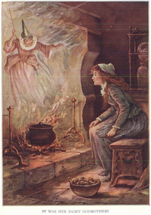 An illustration for the story Cinderella by the author The Brothers Grimm