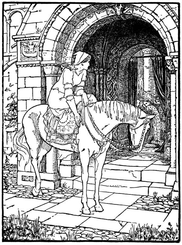 An illustration for the story Fair, Brown, and Trembling by the author Joseph Jacobs