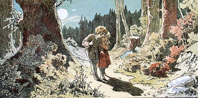 An illustration for the story Hansel and Gretel by the author The Brothers Grimm