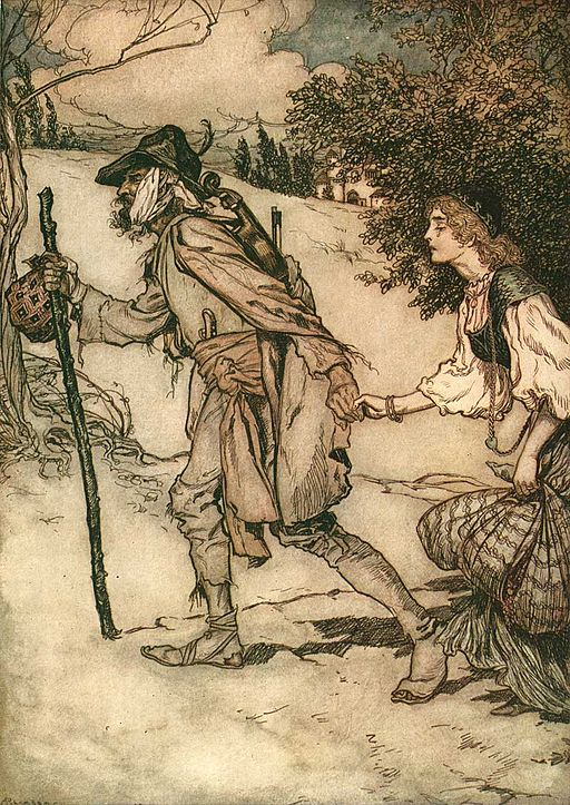 An illustration for the story King Thrushbeard by the author The Brothers Grimm