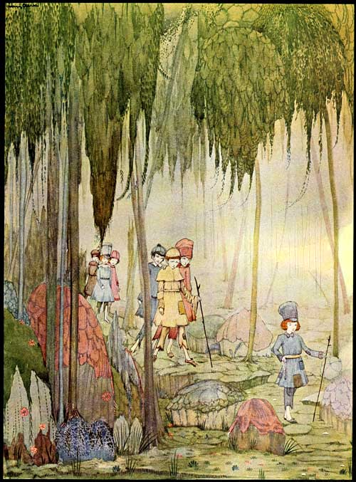 An illustration for the story Little Thumb by the author Charles Perrault