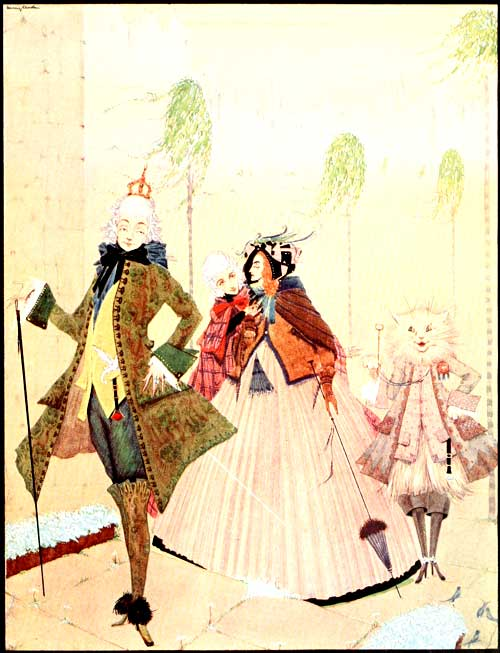 An illustration for the story Puss in Boots by the author Charles Perrault