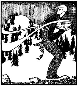 An illustration for the story The Lad Who Went to the North Wind by the author  Peter Christen Asbjornsen