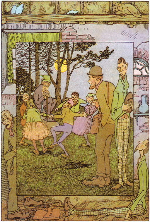 An illustration for the story The Little Folks' Presents by the author The Brothers Grimm