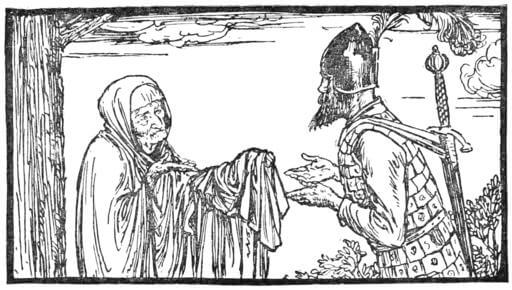 An illustration for the story The Shoes That Were Danced to Pieces by the author The Brothers Grimm