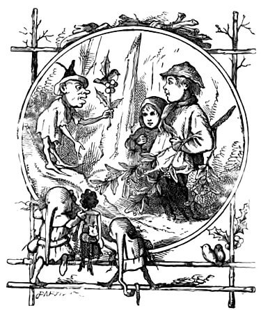 An illustration for the story The Sprig of Holly by the author Frank Stockton