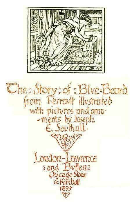 An illustration for the story The Story of Blue Beard by the author Charles Perrault