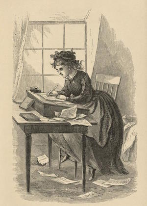 A picture of the teacher Jo March from the Novel Little Women by Louisa May Alcott