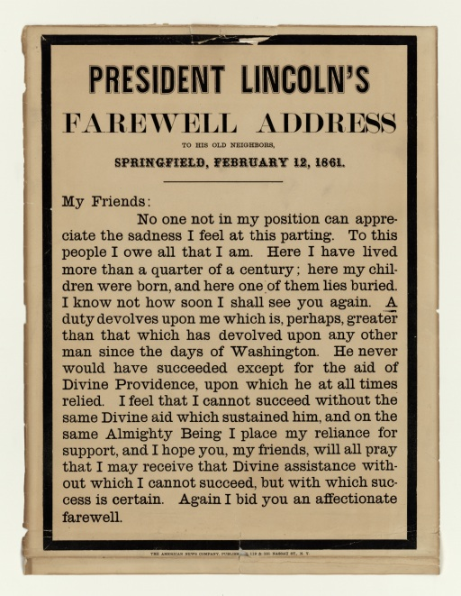 Abraham Lincoln's Farewell Address
