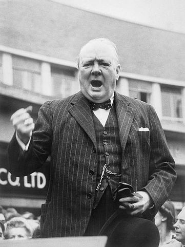 "Winston Churchill's speech ""Blood, Toil, Tears and Sweat"""