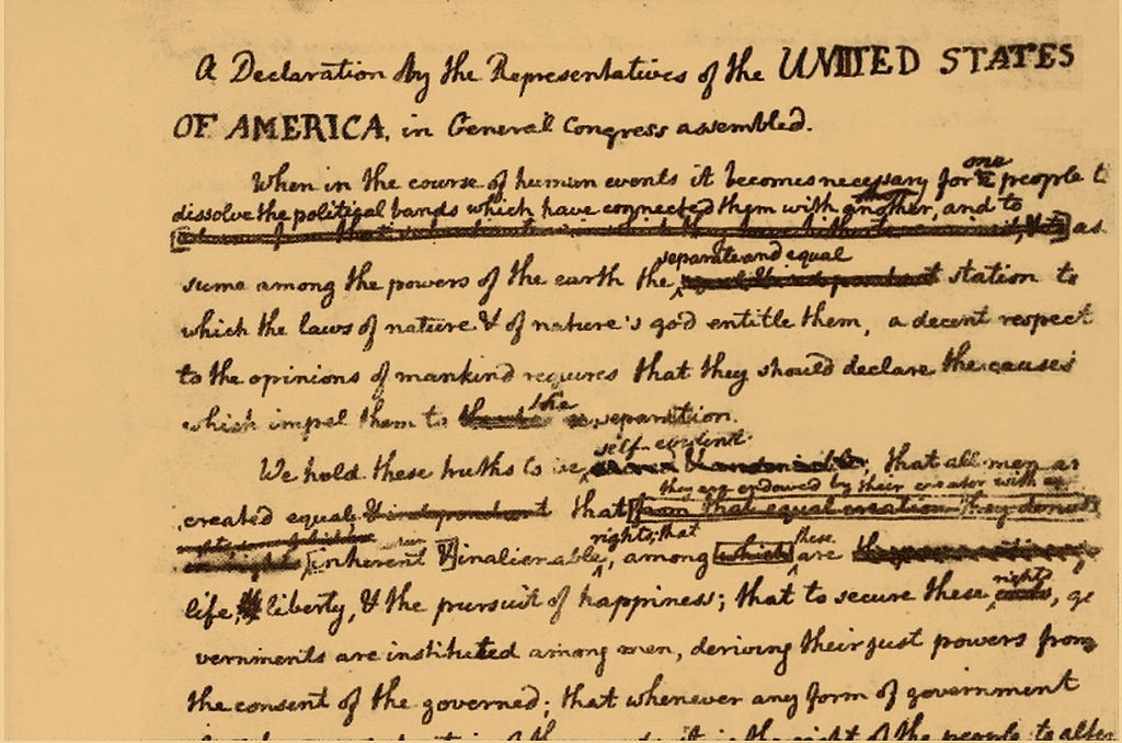 a literary analysis of thomas jeffersons declaration of independence Jefferson and the declaration of independence overview in early may, 1776, jefferson traveled to philadelphia to be a delegate to the second continental congress.