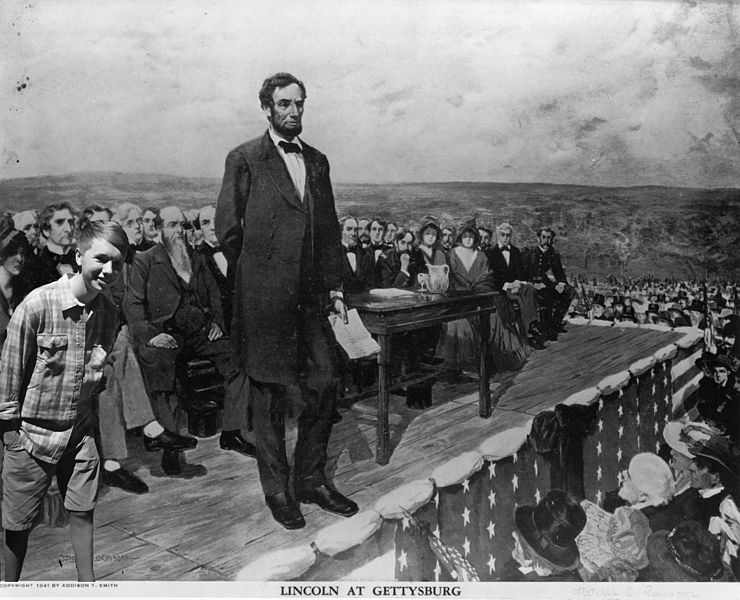President Abraham Lincoln Delivering the Gettysburg Address
