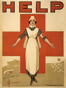 David Henry Souter, Red Cross nurse recruitment, WWI