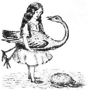 An illustration for the story An Easter Greeting to Every Child Who Loves Alice by the author Lewis Carroll