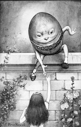 An illustration for the story Who Will Riddle Me the How and Why? by the author Lewis Carroll