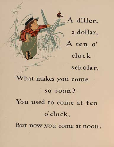 illustration for A Diller, a Dollar Nursery Rhyme