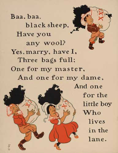 illustration for Baa Baa Black Sheep Nursery Rhyme
