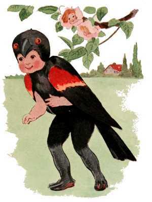 Elizabeth Gordon, Bird Children, black bird
