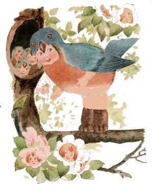 Elizabeth Gordon, Bird Children, bluebird
