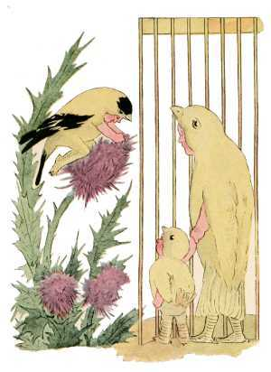 Elizabeth Gordon, Bird Children, canary bird