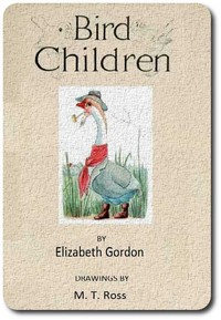 An illustration for the story Bird Children by the author Elizabeth Gordon