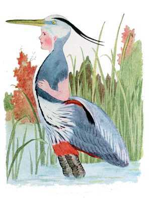 Elizabeth Gordon, Bird Children, great blue heron