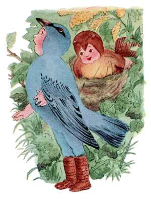 Elizabeth Gordon, Bird Children, indigo bunting