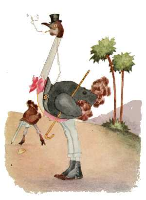 Elizabeth Gordon, Bird Children, ostrich
