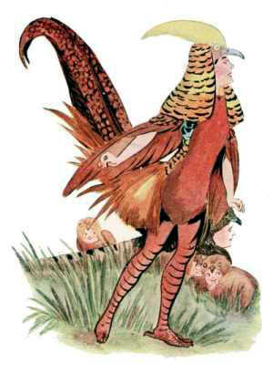 Elizabeth Gordon, Bird Children, pheasant
