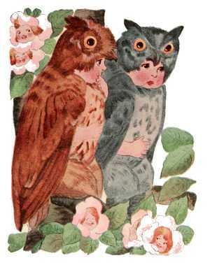 Elizabeth Gordon, Bird Children, screech owl