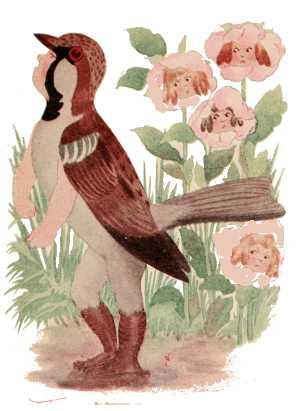 Elizabeth Gordon, Bird Children, sparrow