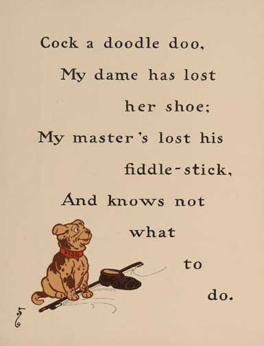 illustration for Cock a Doodle Doo Nursery Rhyme