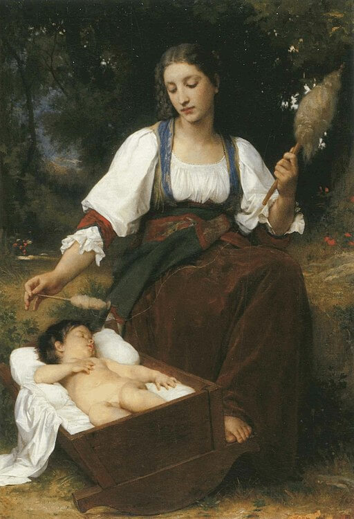 An illustration for the story French Lullaby by the author Anonymous