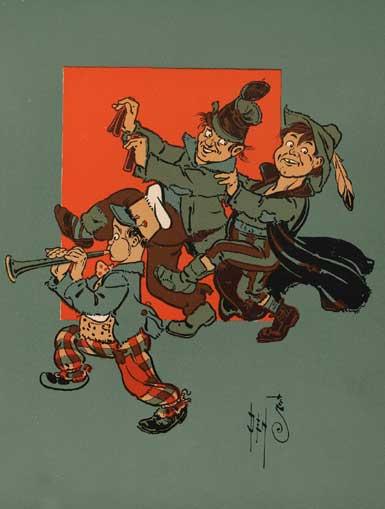 illustration for Hark, Hark, the Dogs Do Bark 2 Nursery Rhyme
