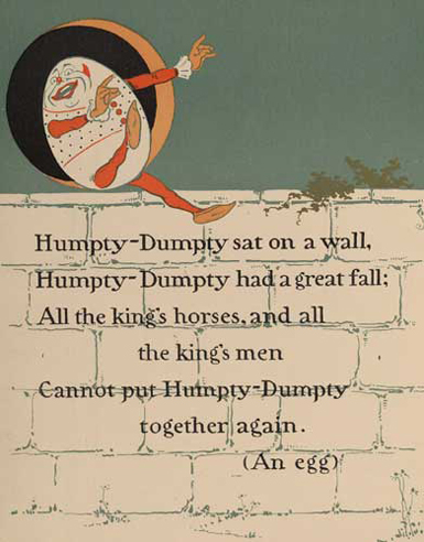 illustration for Humpty Dumpty Nursery Rhyme