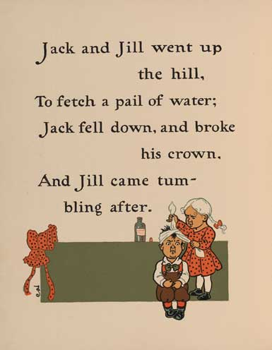 Ilration For Jack And Jill Went Up The Hill Nursery Rhyme