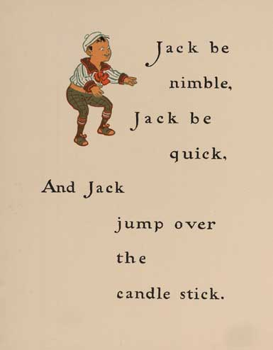 illustration for Jack Be Nimble Nursery Rhyme