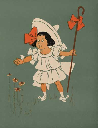 illustration for Little Bo-Peep 2 Nursery Rhyme