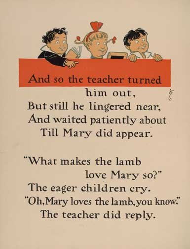 illustration for Mary Had a Little Lamb 3 Nursery Rhyme