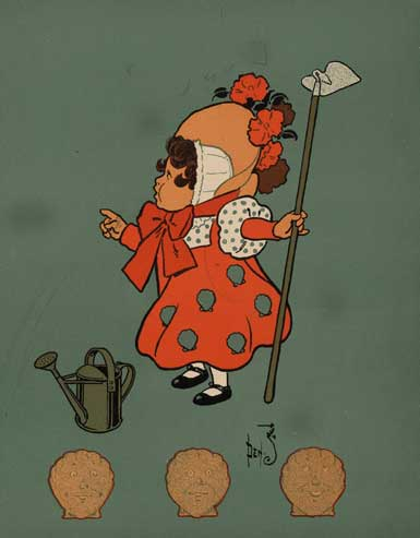 illustration for Mistress Mary Quite Contrary 2 Nursery Rhyme