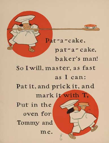 illustration for Pat-a-Cake, Pat-a-Cake, Baker's Man Nursery Rhyme