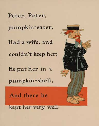illustration for Peter, Peter, Pumpkin-Eater Nursery Rhyme