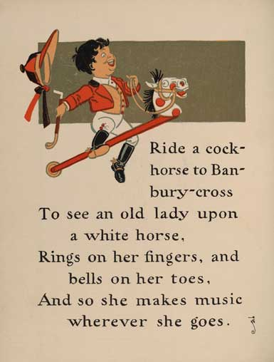 illustration for Ride a Cockhorse to Banbury Cross Nursery Rhyme