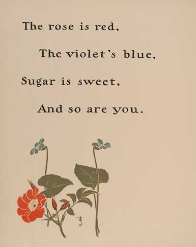 illustration for Roses Are Red Nursery Rhyme