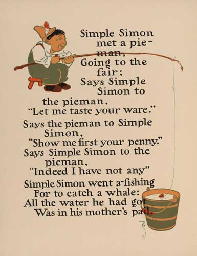 illustration for Simple Simon Nursery Rhyme