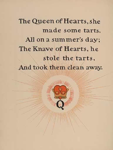 illustration for The Queen of Hearts Nursery Rhyme