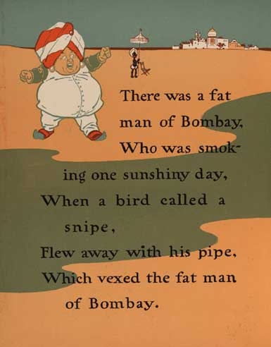 illustration for There Was a Fat Man of Bombay Nursery Rhyme