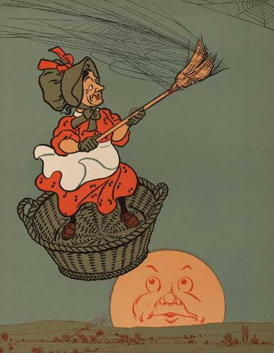 illustration for There Was an Old Woman Tossed Up in a Basket 2 Nursery Rhyme